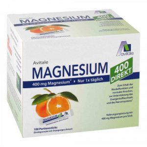 MAGNESIUM 400 direkt Orange Portionssticks